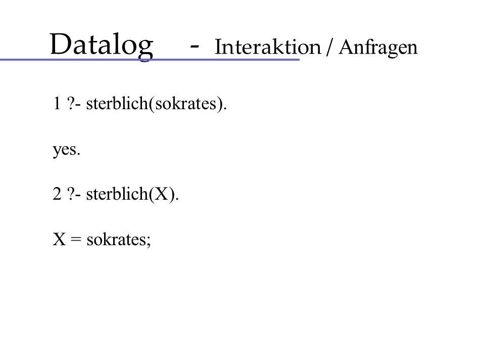 Datalog - Interaktion / Anfragen