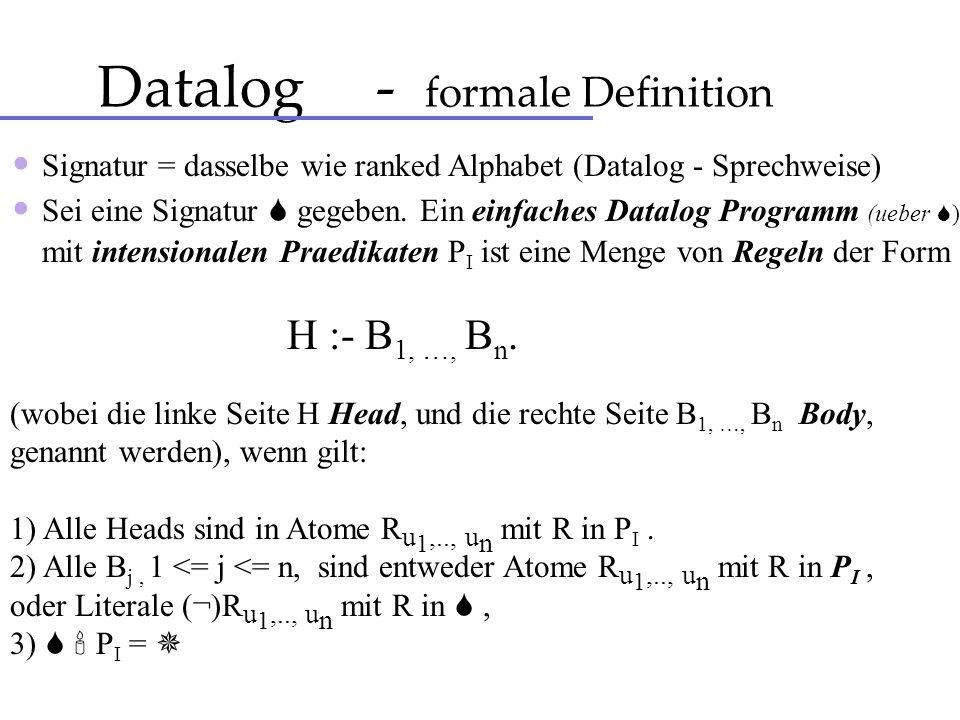 Datalog - formale Definition