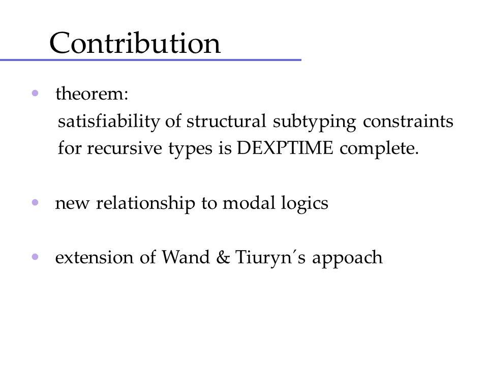 Contribution • theorem:
