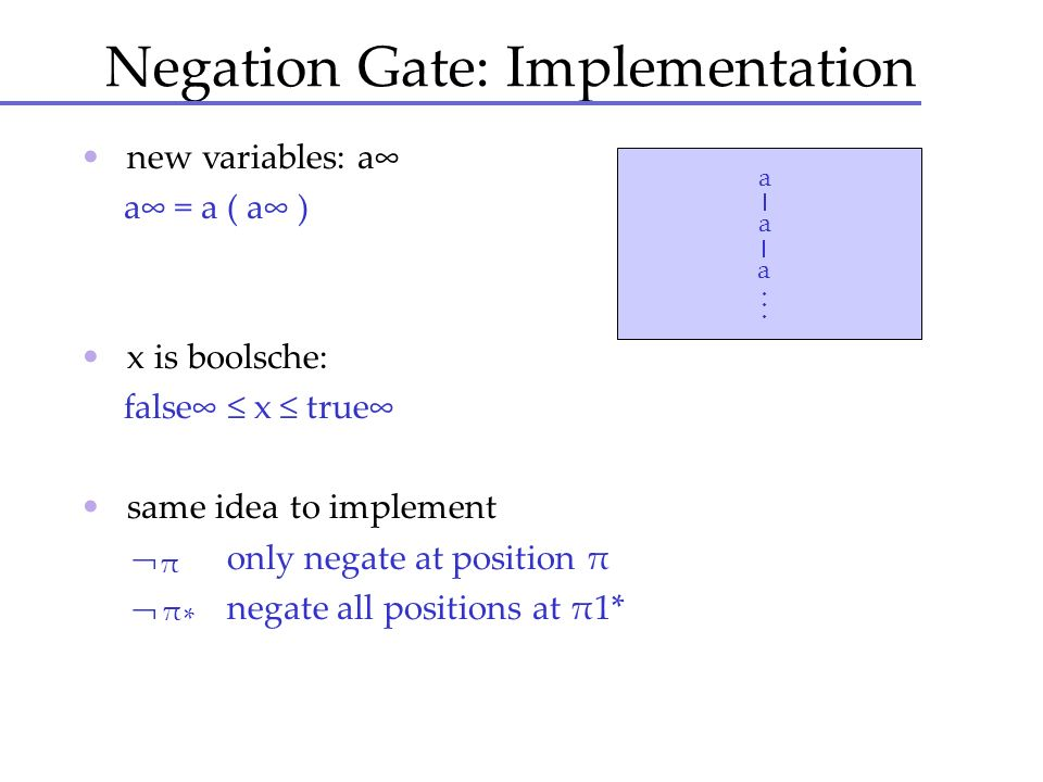 Negation Gate: Implementation