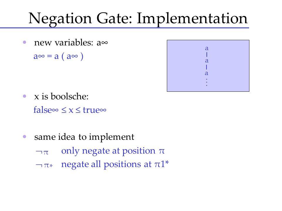 Negation Gate: Implementation
