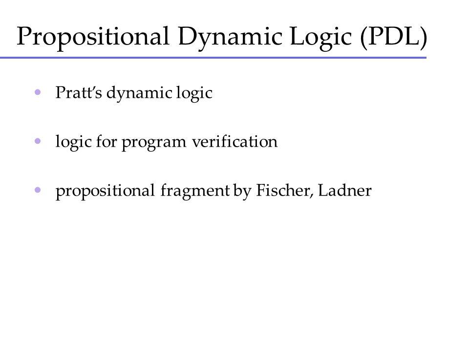Propositional Dynamic Logic (PDL)