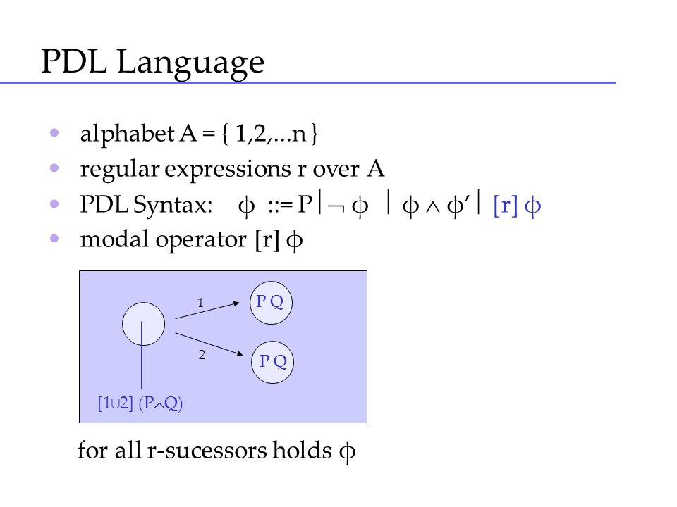 PDL Language • alphabet A = { 1,2,...n }