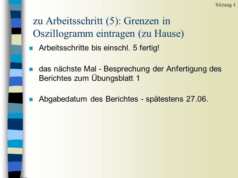 zu Arbeitsschritt (5): Grenzen in Oszillogramm eintragen (zu Hause)
