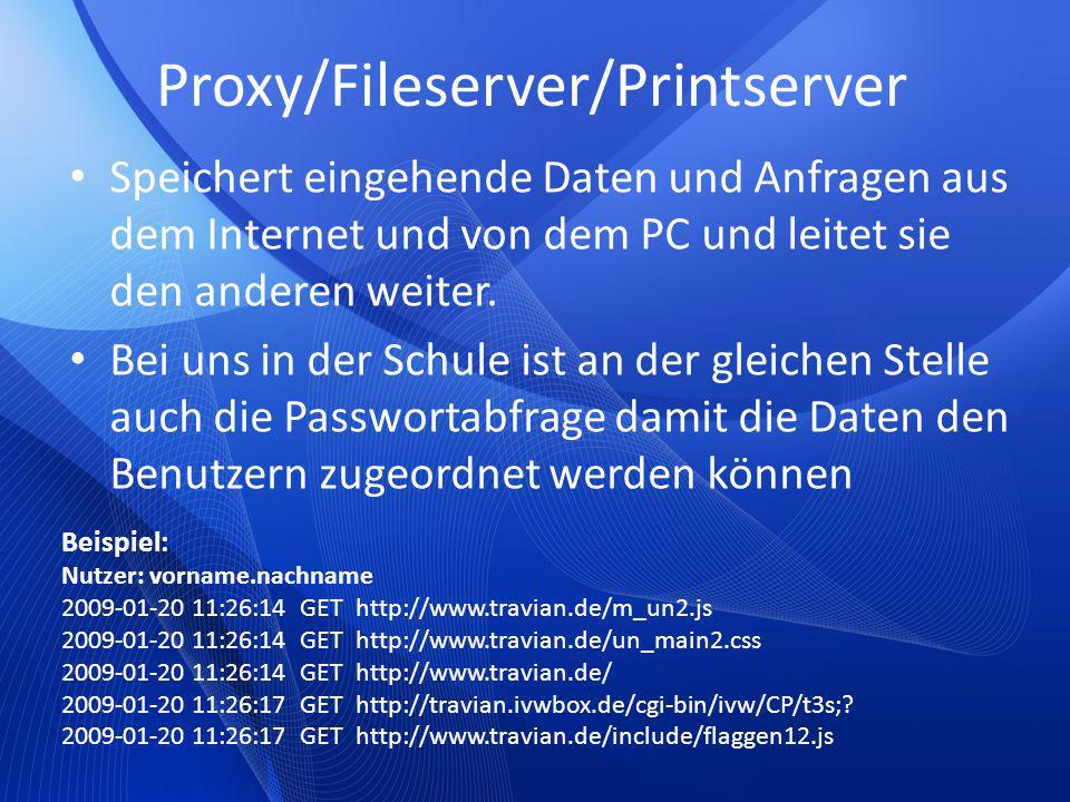 Proxy/Fileserver/Printserver
