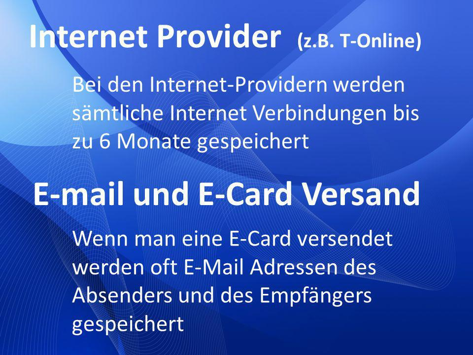 Internet Provider (z.B. T-Online)