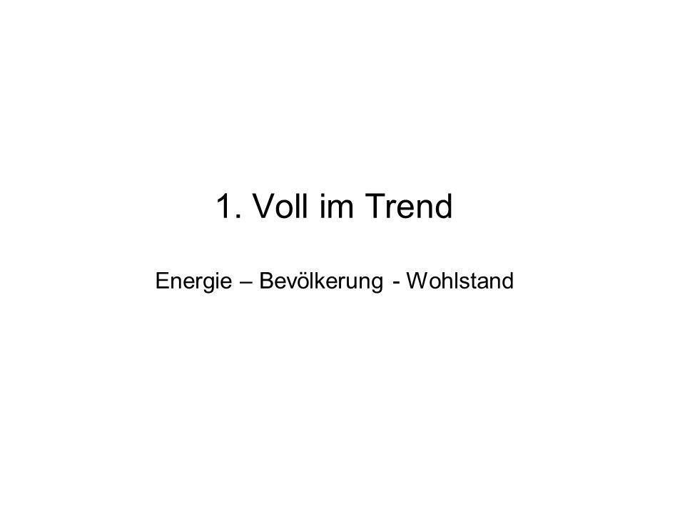 1. Voll im Trend Energie – Bevölkerung - Wohlstand