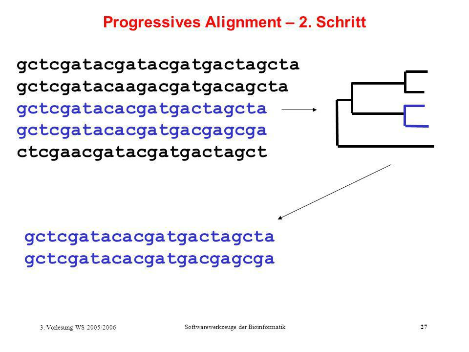 Progressives Alignment – 2. Schritt