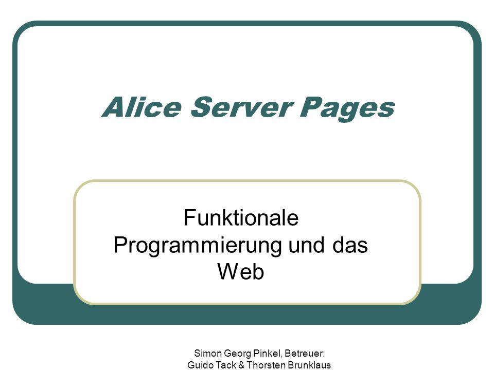 Funktionale Programmierung und das Web