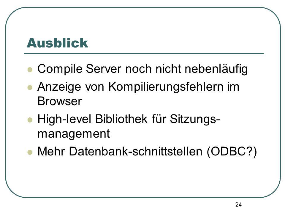 Ausblick Compile Server noch nicht nebenläufig