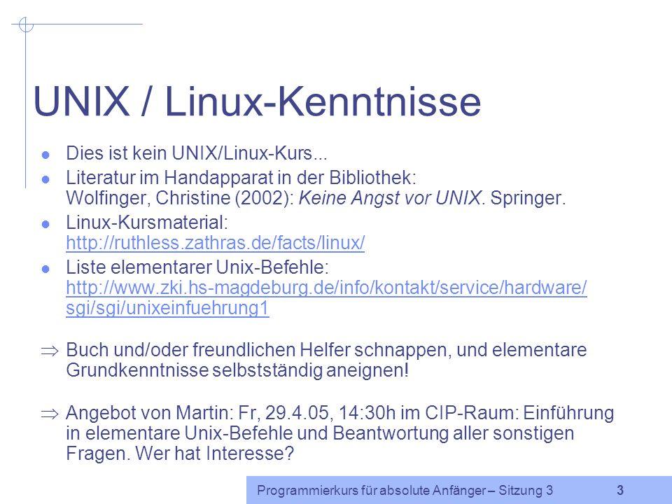 UNIX / Linux-Kenntnisse