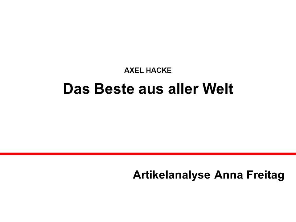 Artikelanalyse Anna Freitag
