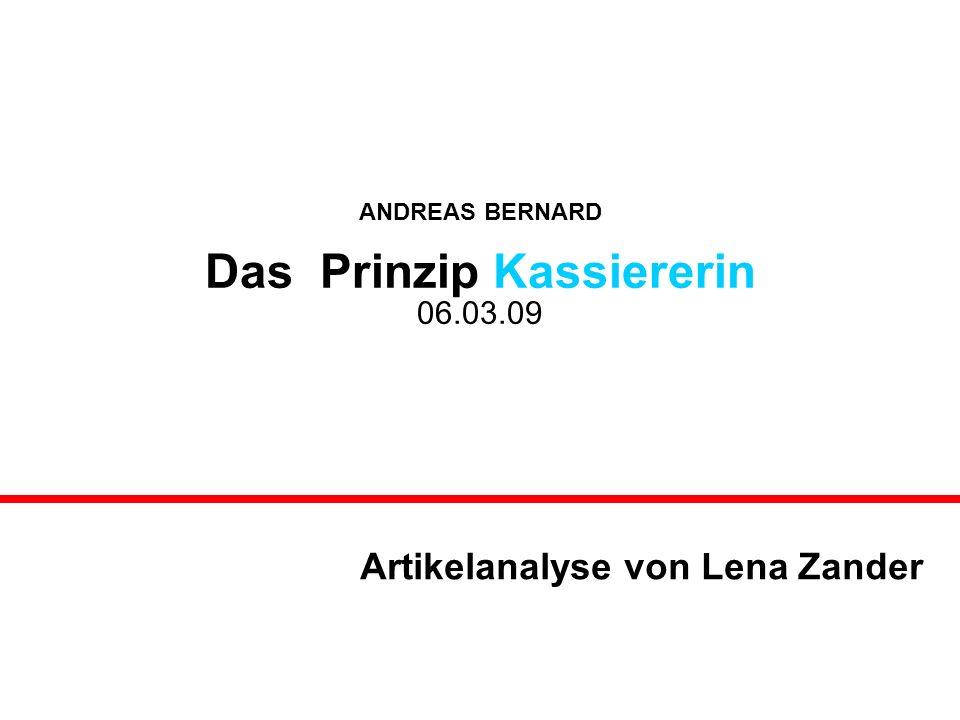 Artikelanalyse von Lena Zander