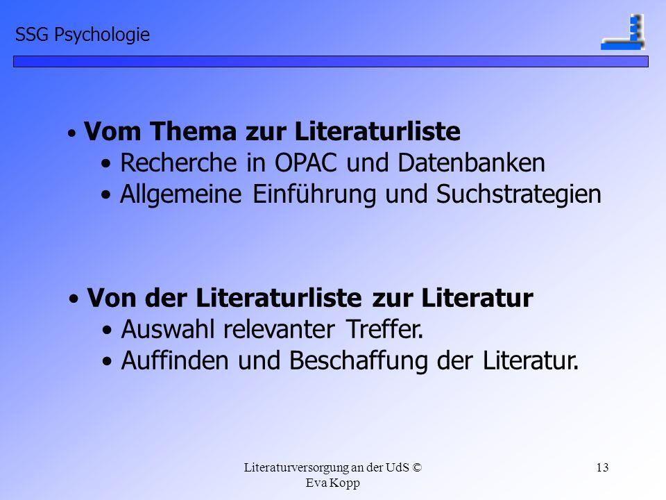Literaturversorgung an der UdS © Eva Kopp