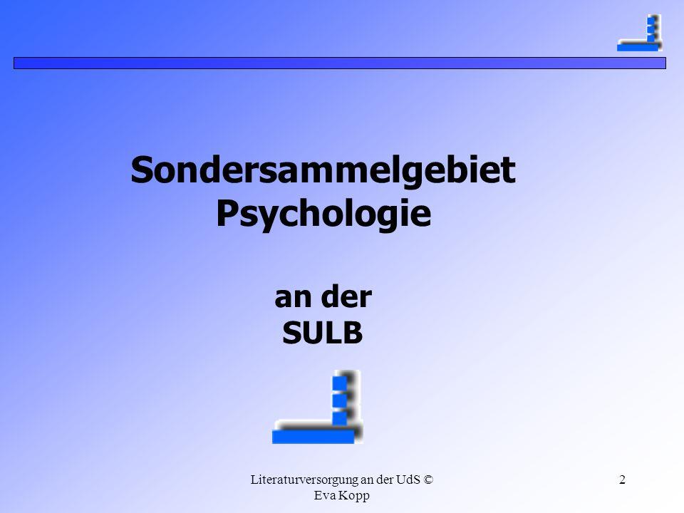 Sondersammelgebiet Psychologie