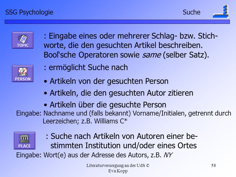 Bool'sche Operatoren sowie same (selber Satz).
