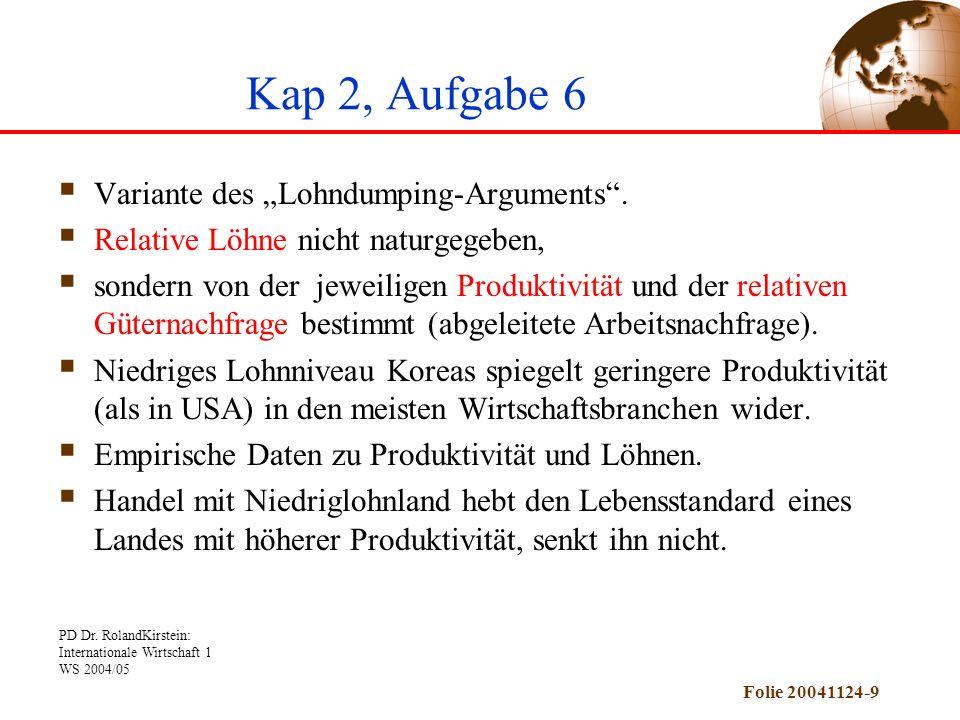 "Kap 2, Aufgabe 6 Variante des ""Lohndumping-Arguments ."
