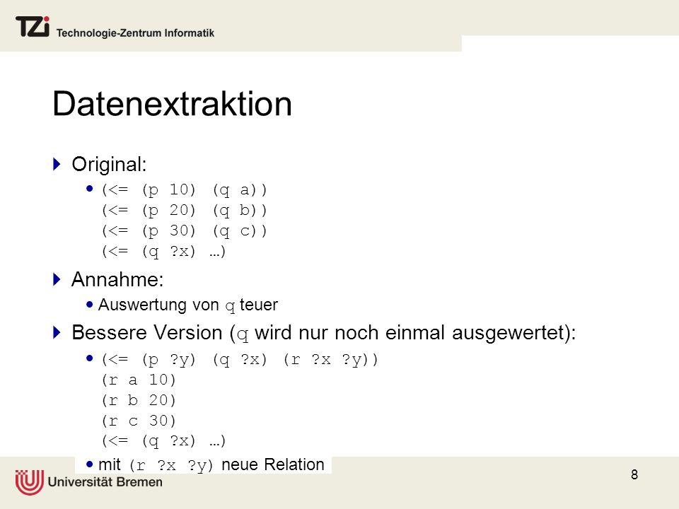 Datenextraktion Original: Annahme: