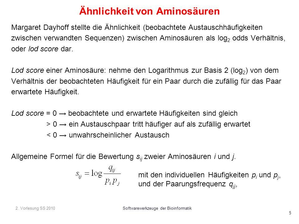 Ähnlichkeit von Aminosäuren