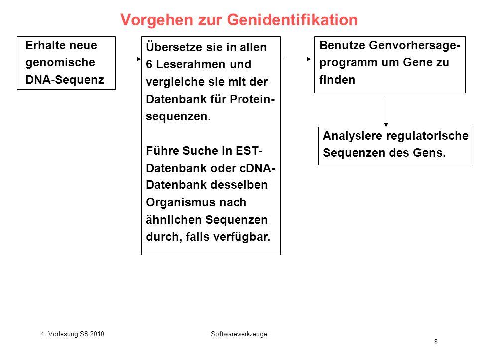 Vorgehen zur Genidentifikation