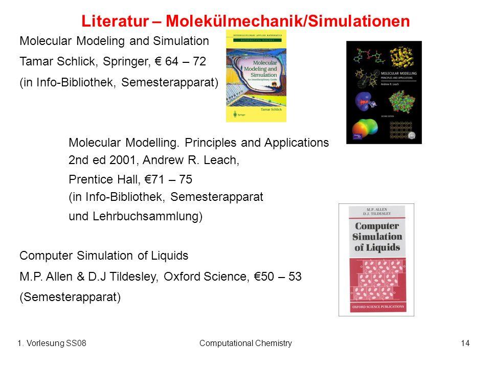 Literatur – Molekülmechanik/Simulationen