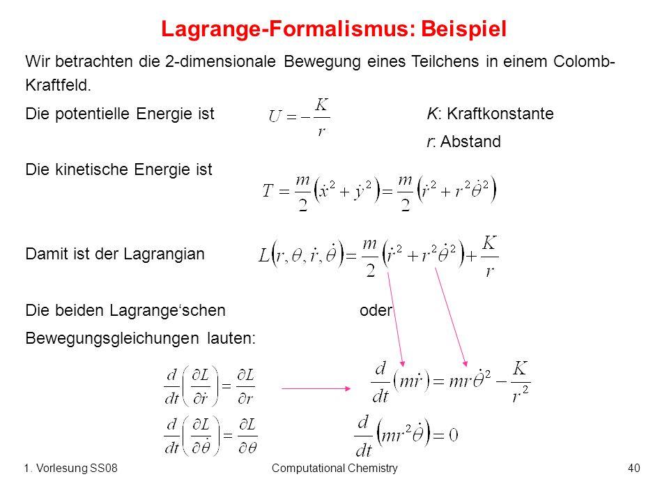 Lagrange-Formalismus: Beispiel