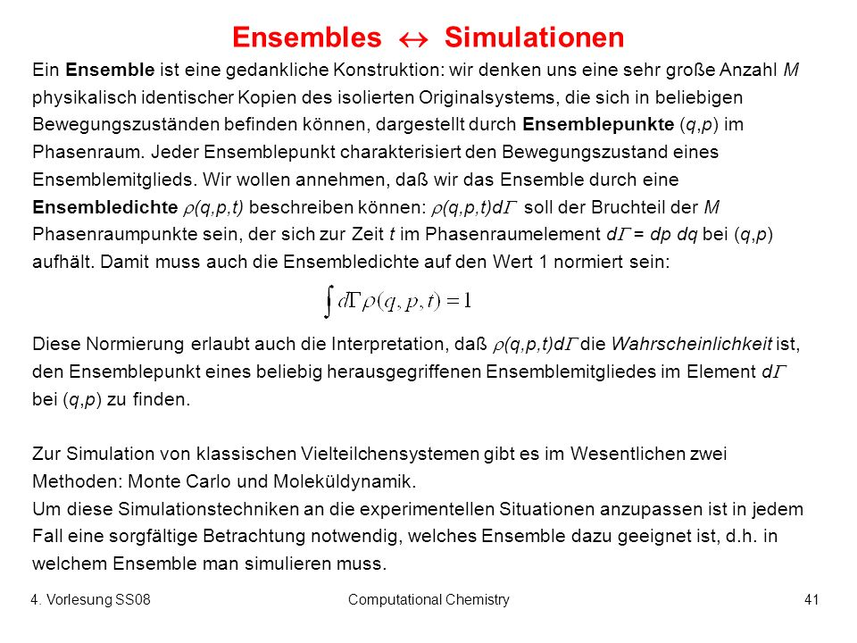 Ensembles  Simulationen