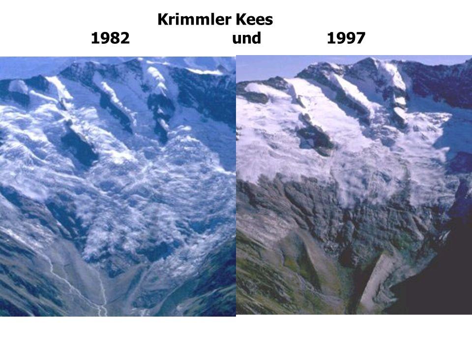 Krimmler Kees 1982 und 1997