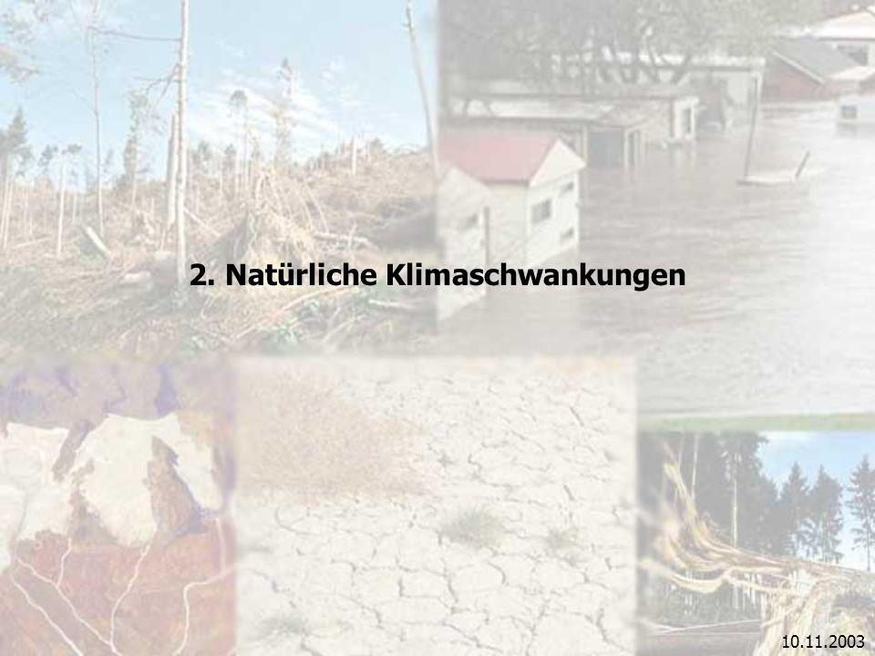 2. Natürliche Klimaschwankungen