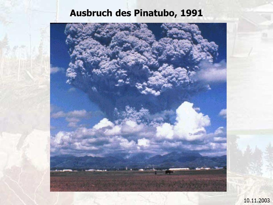 Ausbruch des Pinatubo, 1991 10.11.2003
