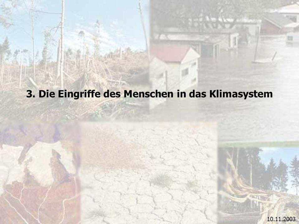 3. Die Eingriffe des Menschen in das Klimasystem