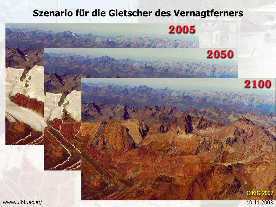 Szenario für die Gletscher des Vernagtferners