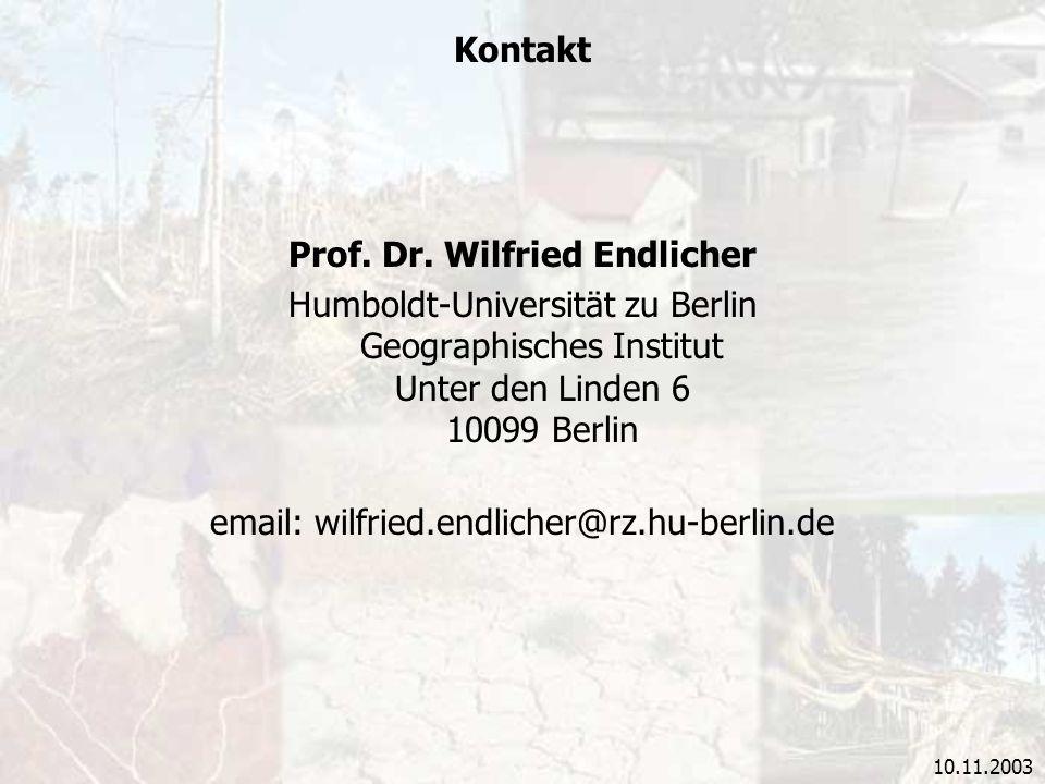 Prof. Dr. Wilfried Endlicher