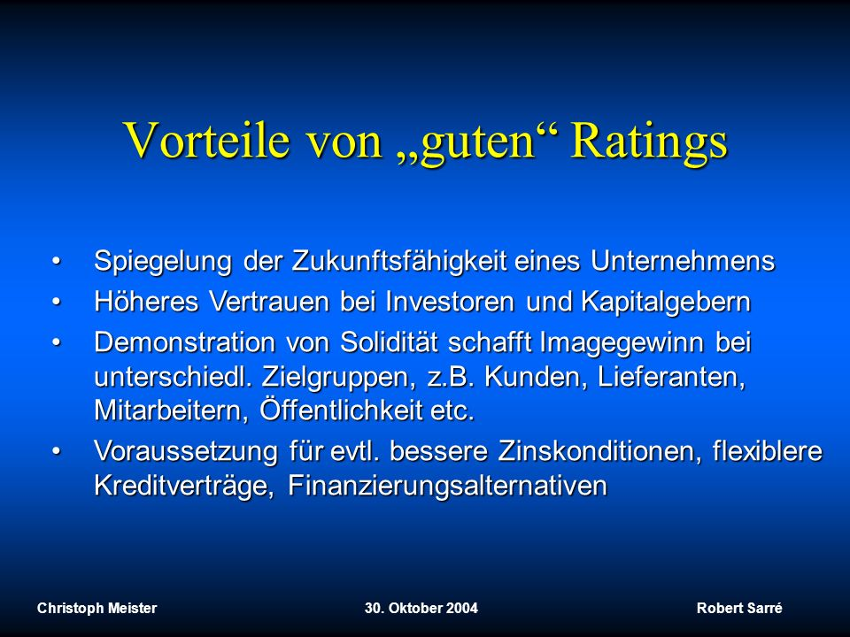 """Vorteile von """"guten Ratings"""