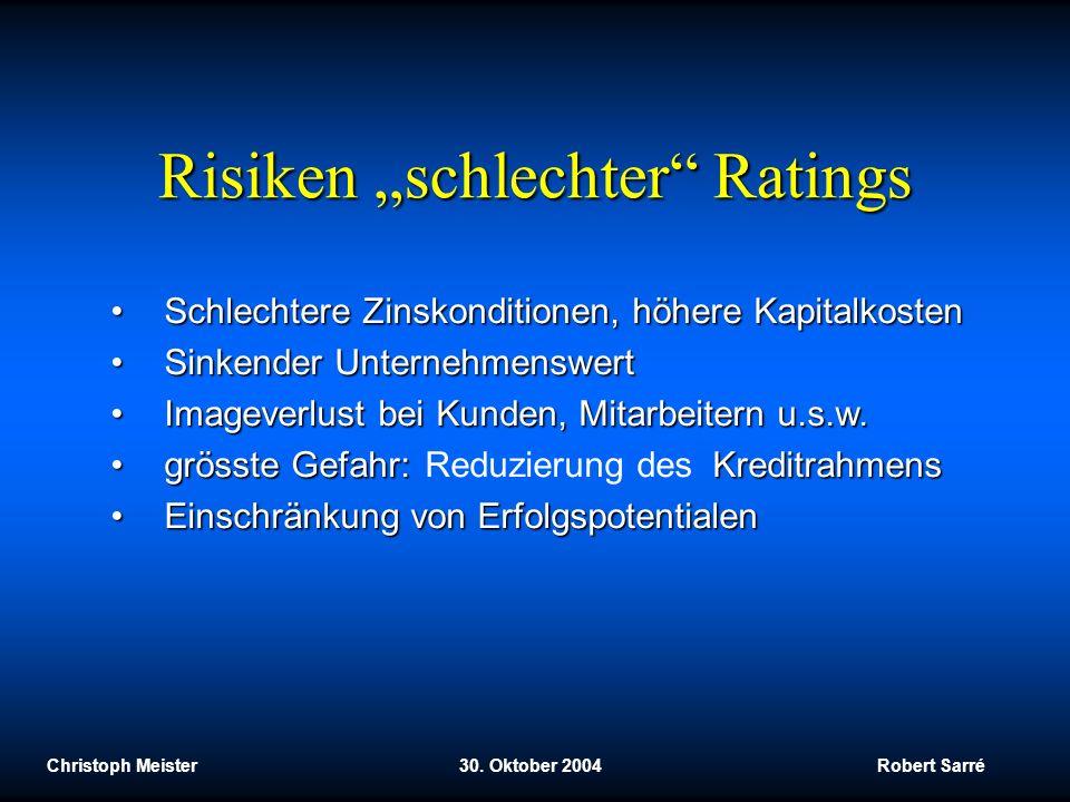 """Risiken """"schlechter Ratings"""