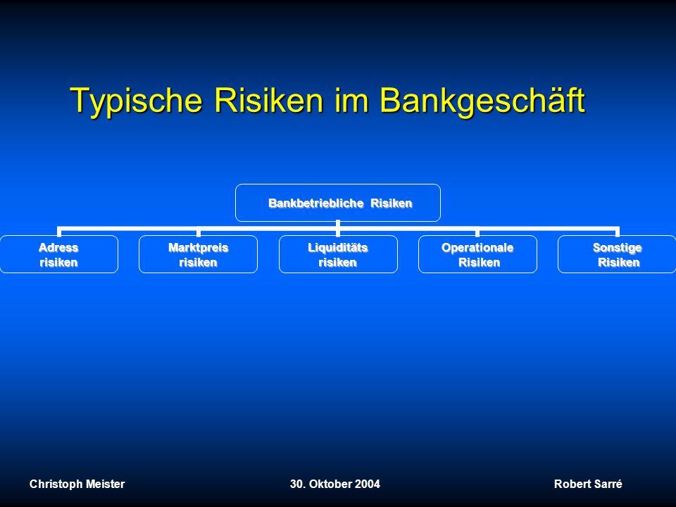Typische Risiken im Bankgeschäft