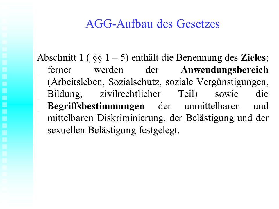 AGG-Aufbau des Gesetzes