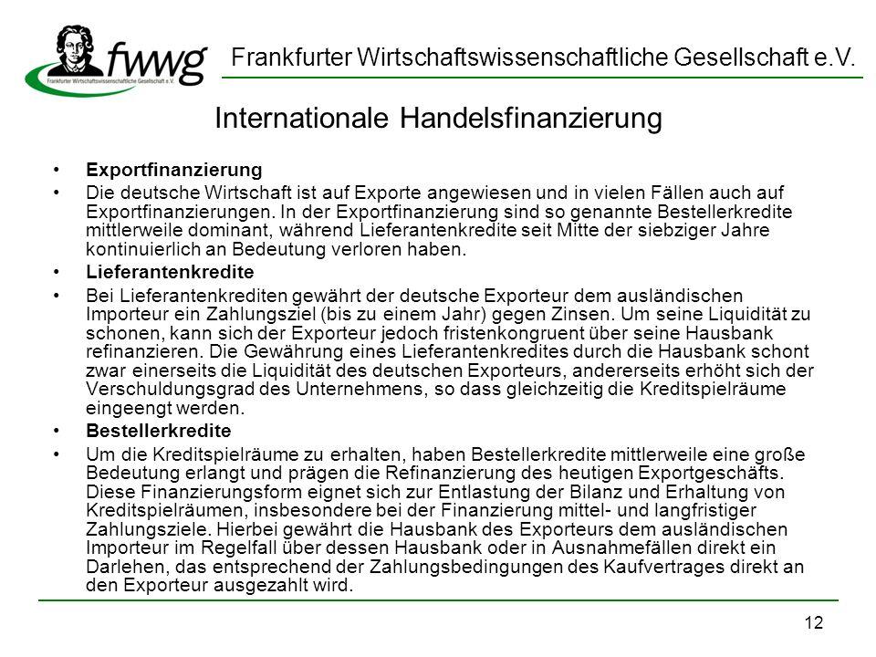 Internationale Handelsfinanzierung