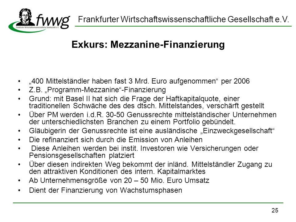 Exkurs: Mezzanine-Finanzierung
