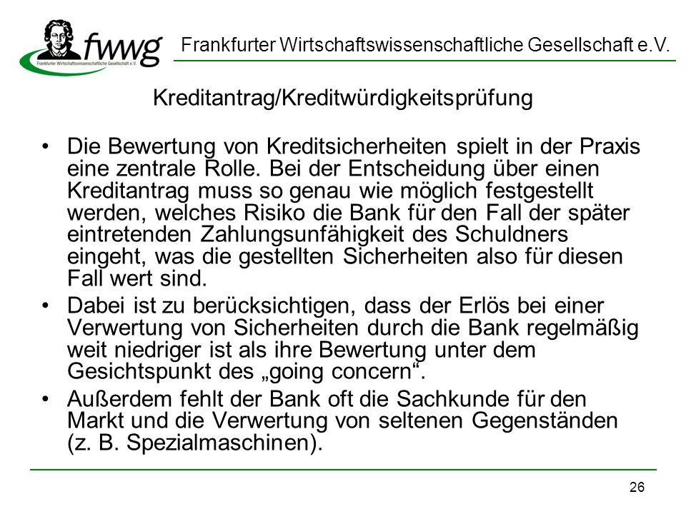 Kreditantrag/Kreditwürdigkeitsprüfung