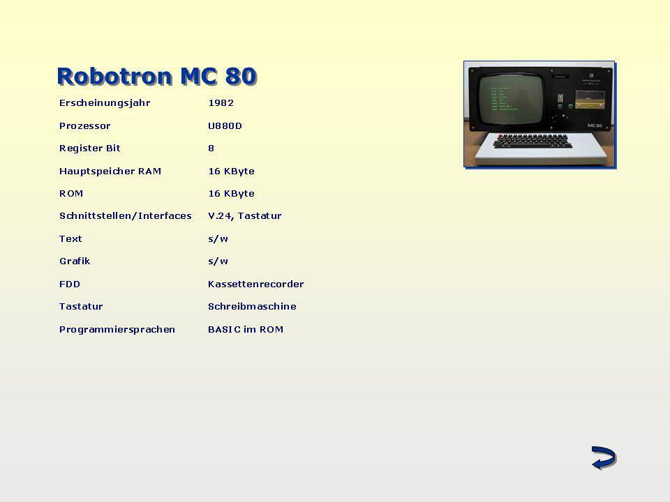 Robotron MC 80