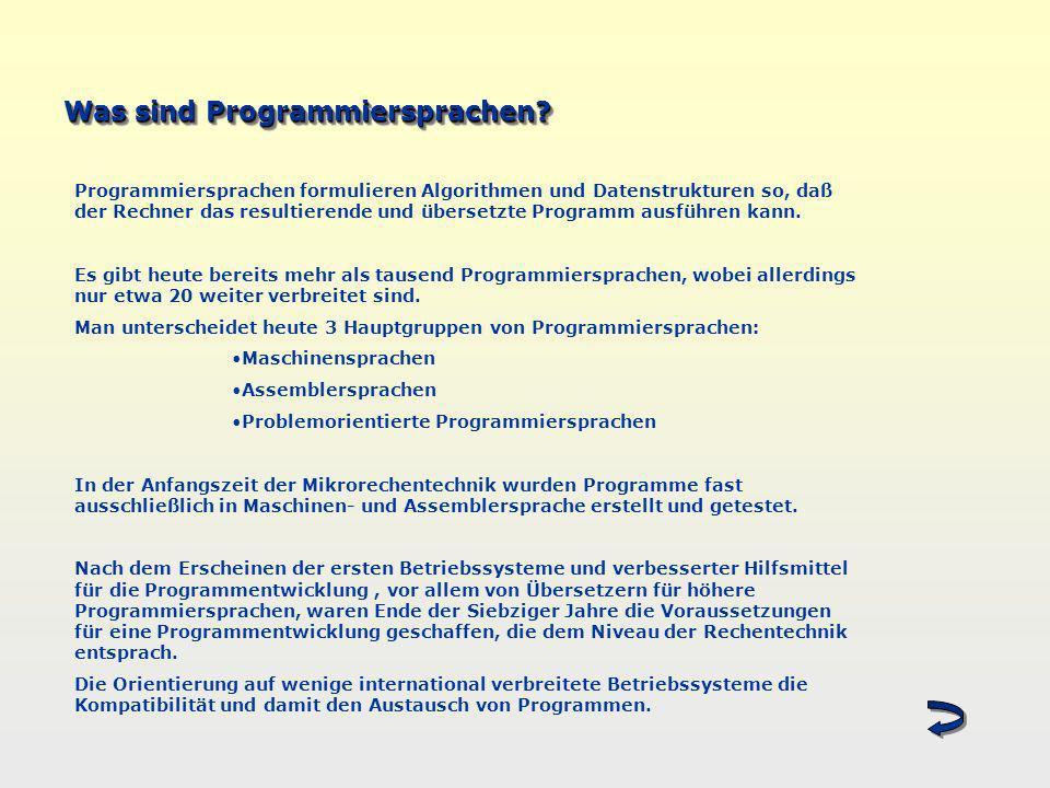 Was sind Programmiersprachen
