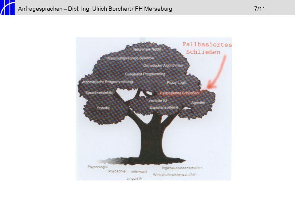 Anfragesprachen – Dipl. Ing. Ulrich Borchert / FH Merseburg 7/11