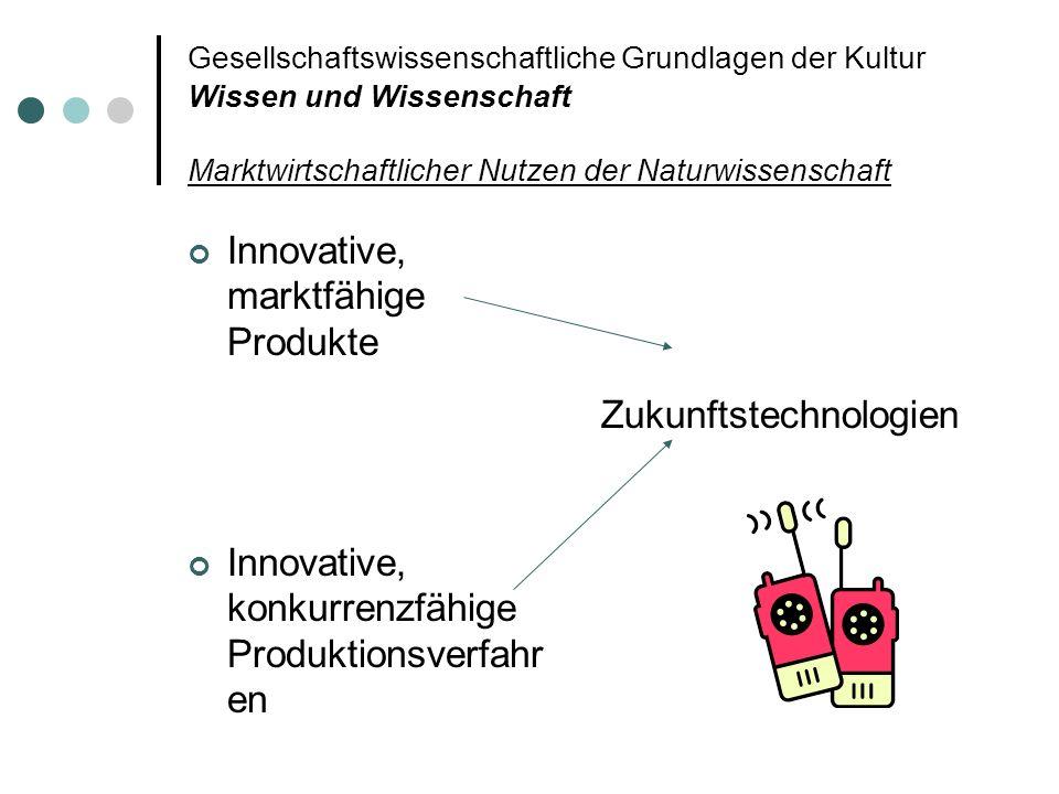 Innovative, marktfähige Produkte