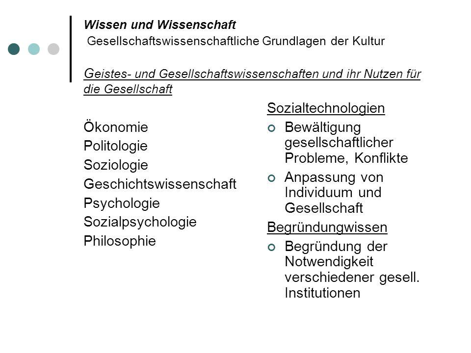 Geschichtswissenschaft Psychologie Sozialpsychologie Philosophie