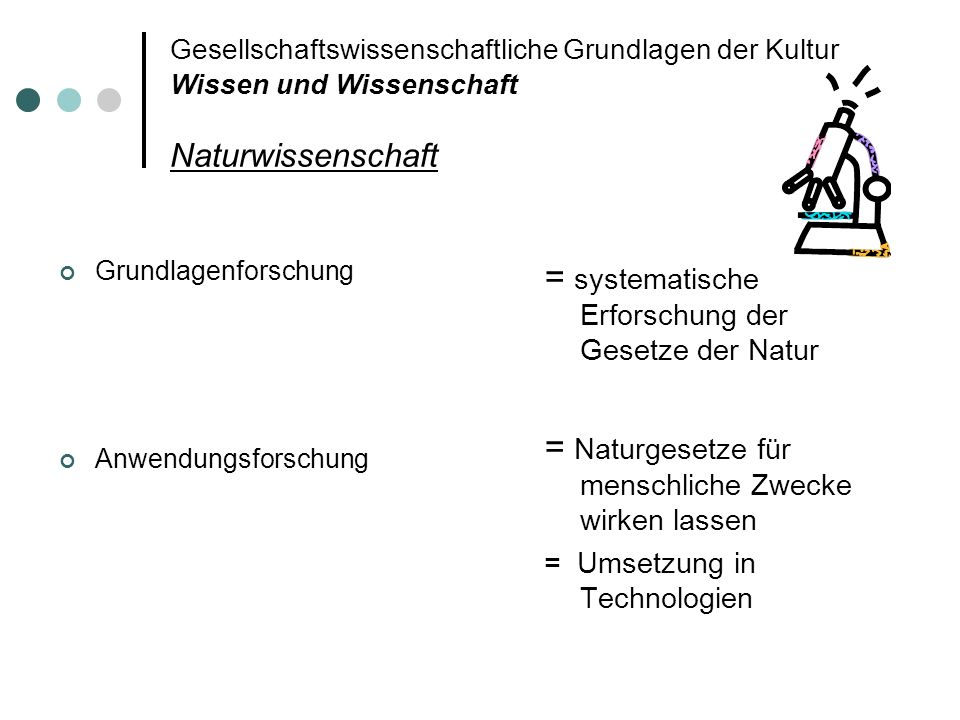 = systematische Erforschung der Gesetze der Natur