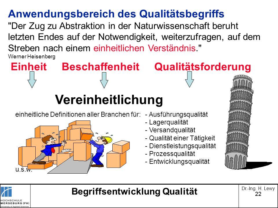 Begriffsentwicklung Qualität