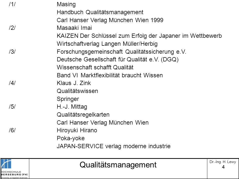 Qualitätsmanagement /1/ Masing Handbuch Qualitätsmanagement