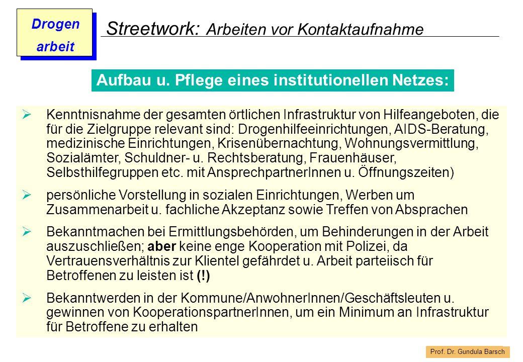Streetwork: Arbeiten vor Kontaktaufnahme