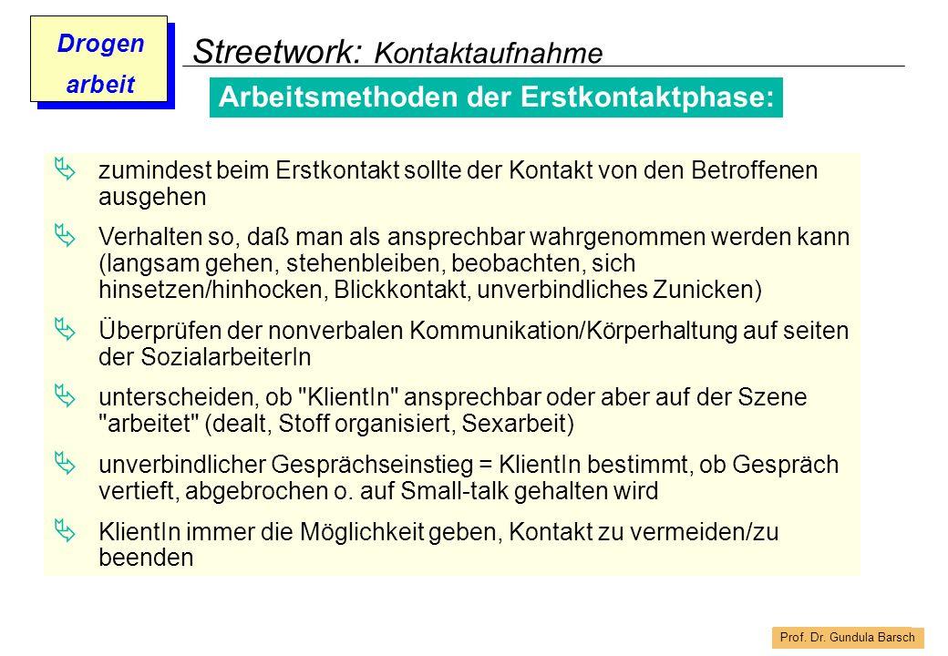 Streetwork: Kontaktaufnahme